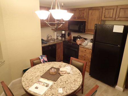 Marriott's Mountain Valley Lodge at Breckenridge ホテルには長期滞在用にフルキッチンが完備されている。