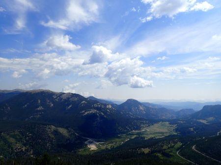 ロッキーマウンテン国立公園頂上付近